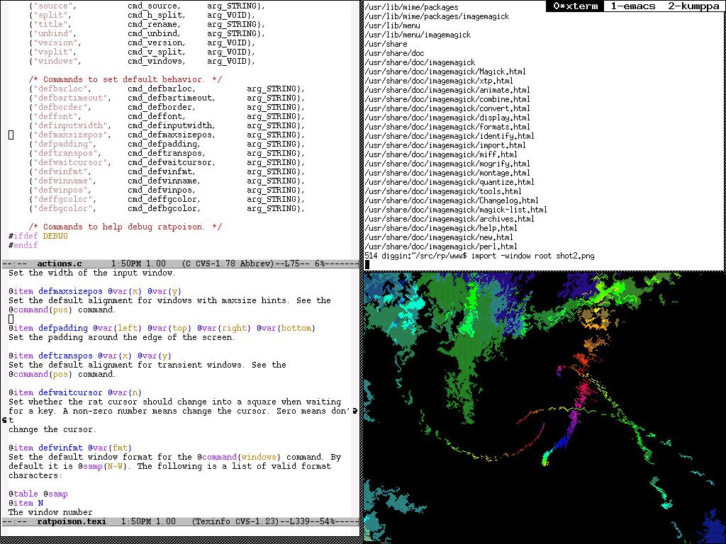 Tampilan desktop ratpoison