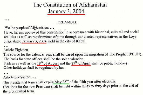 Afghanistan in constitutions of 1923 1931