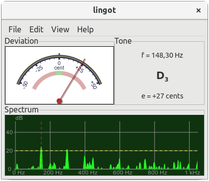 Guitar Tuner Linux : lingot is not a guitar only tuner universal tuner ~ Russianpoet.info Haus und Dekorationen