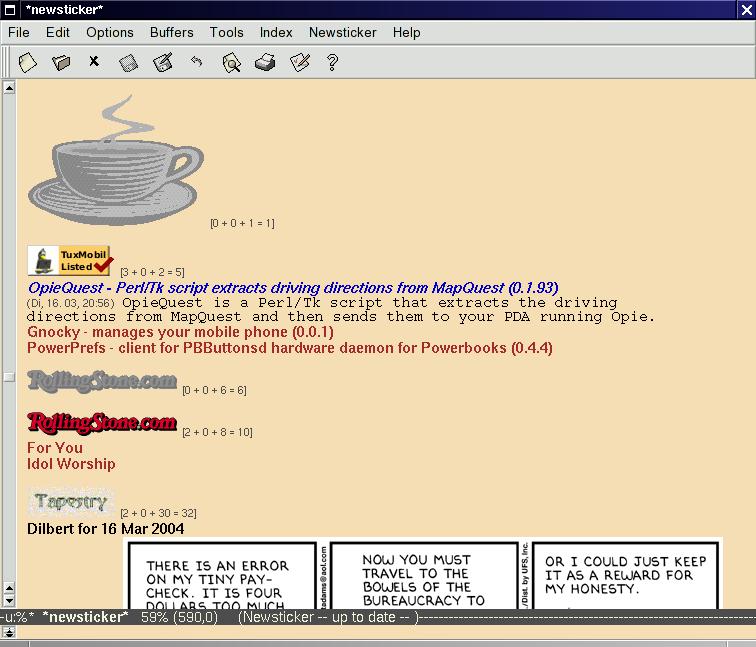 newsticker.el A Newsticker for Emacs